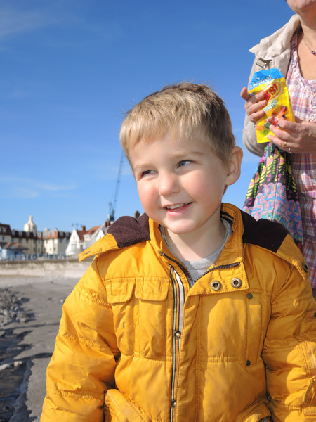 Jasper on Porthcawl Beach