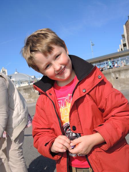 Oskar on Porthcawl beach