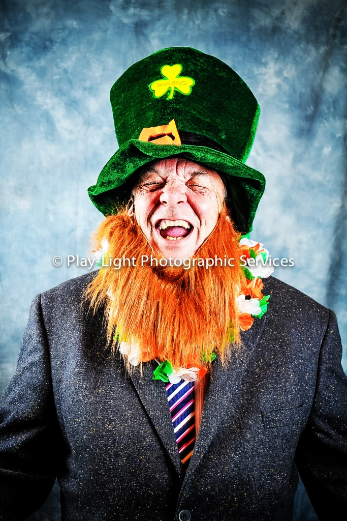 Laughing Irish man. Cancer Charity event at the Heronstone Hotel, Bridgend. March 2013
