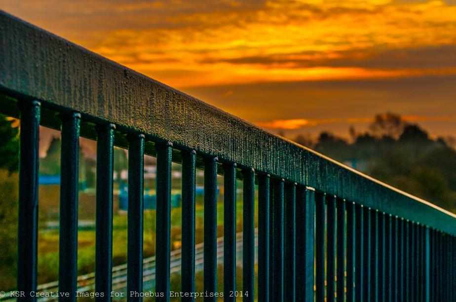 Sunrise on damp bridge