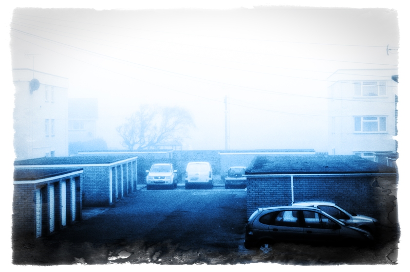 Outside the fog beckons, and I'm stuck in doors :(