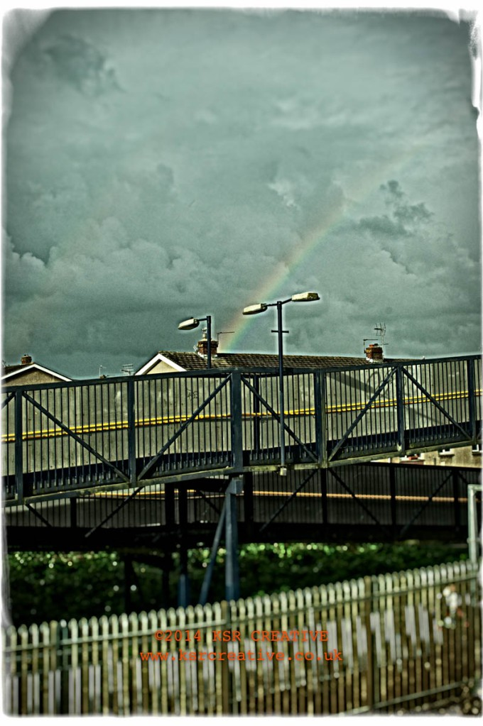 Rainbow over Pyle station