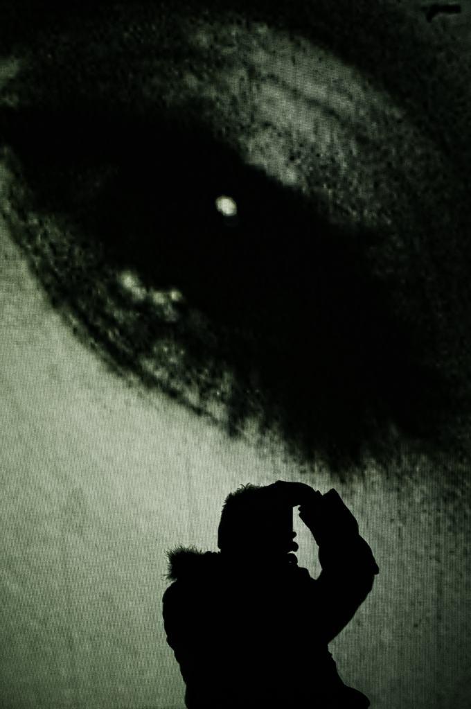 Self portrait of eye and shadow