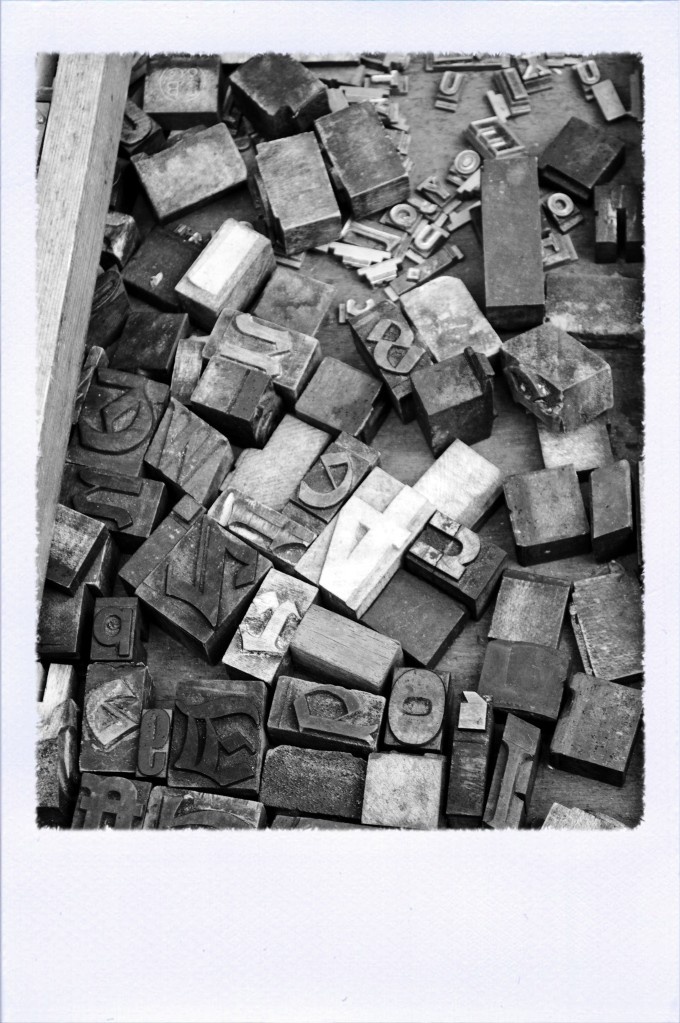 Type Blocks for sale at Portobello Market